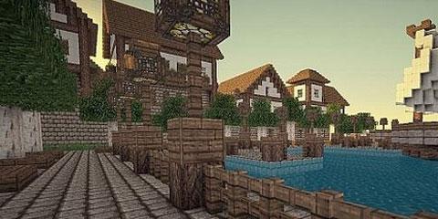 我的世界温馨的港口小镇地图存档分享