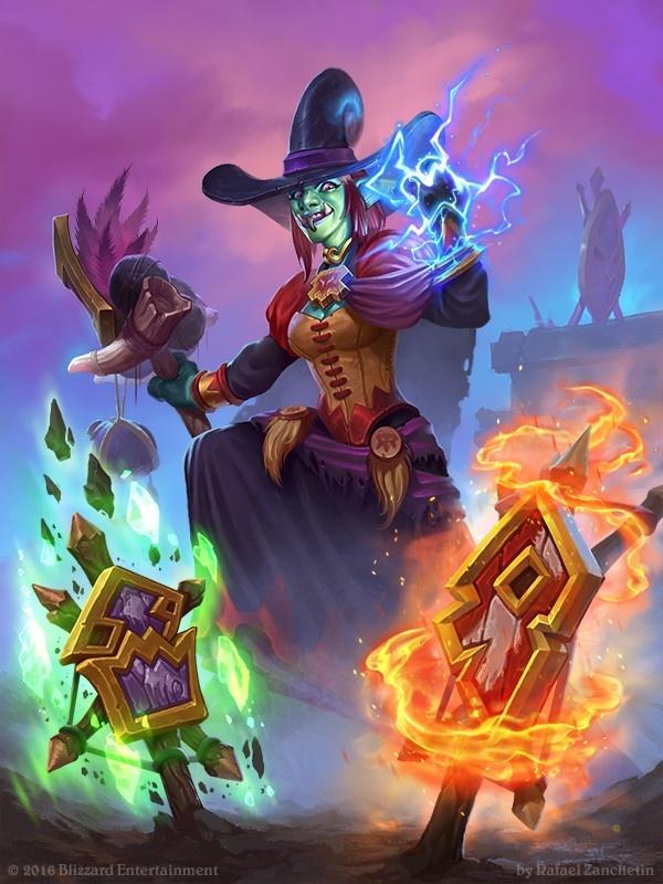 zanchetin制作了卡拉赞最有特色的人物——魔镜,巫婆和萨满