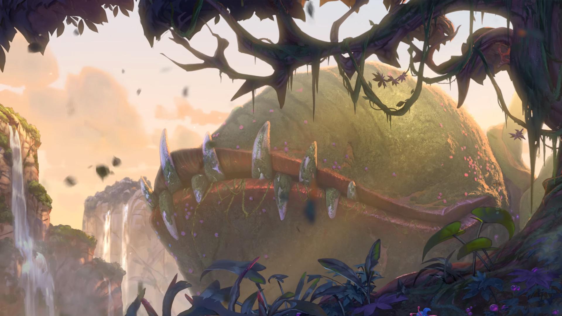 美轮美奂  安戈洛环形山1080p原画壁纸
