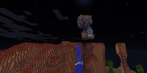 我的世界地图飞屋环游记 带着梦想去飞翔