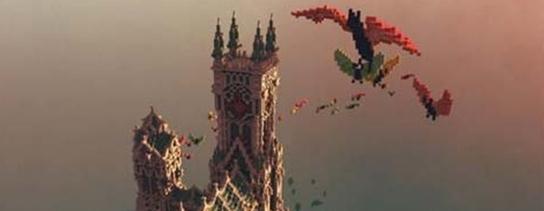 我的世界1.10吸血鬼城堡建筑存档 1.10建筑存档下载