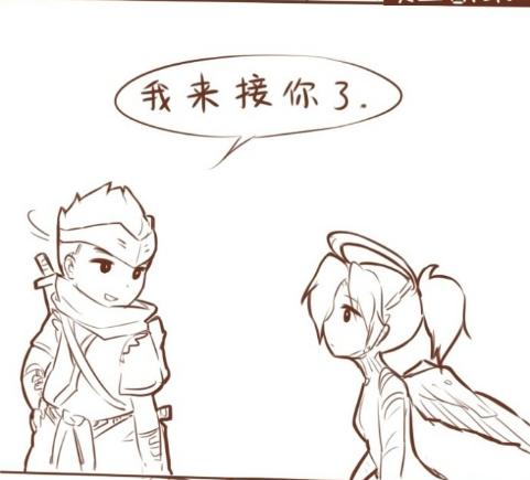 守望先锋趣味漫画赏析 来自天使源氏的cp