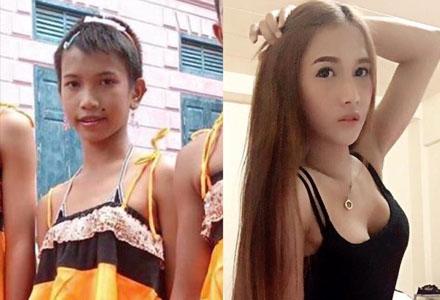 40张泰国人妖变身前后对比照 肤白貌美还让女生怎么活!