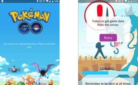 PokemonGo精灵宝可梦GO 服务器崩溃怎么办?