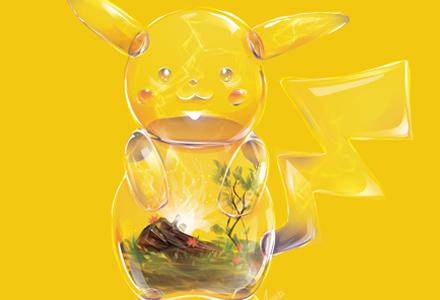 """7只""""被插画家改造成透明玻璃盆栽""""的宝可梦玻璃世界"""