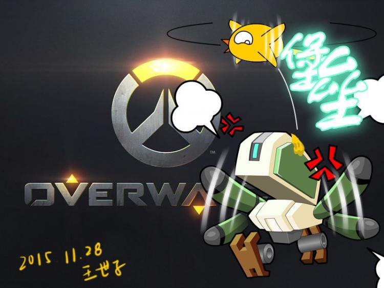 玩家手绘q版英雄任务 超萌可爱的守望英雄
