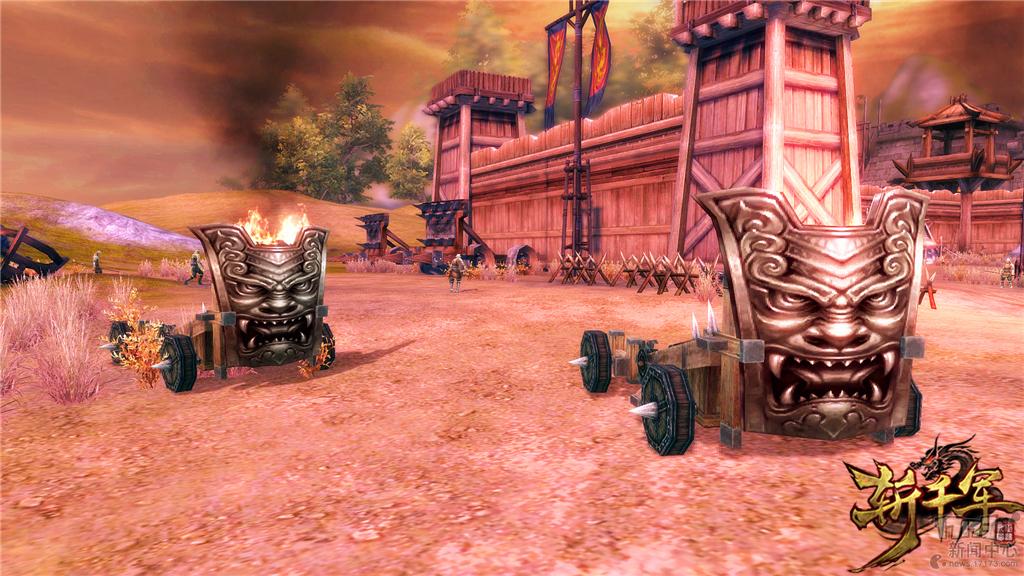 玩家竟能变成箭塔 《斩千军》新版城战引入载具器械