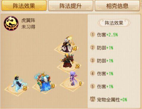 《梦幻西游》手游版 阵法选择