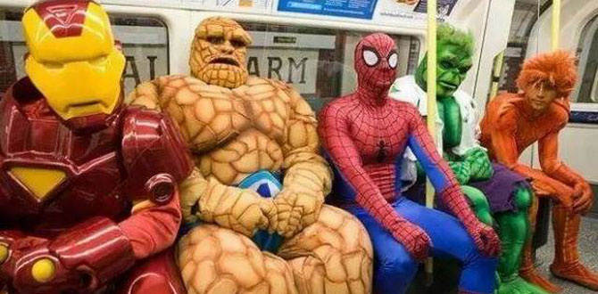 当酷炫的cosplay融入到普通人的日常生活时