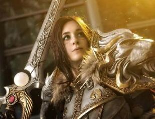 魔兽原创作品:为了联盟 外国女玩家实力反串瓦王COS