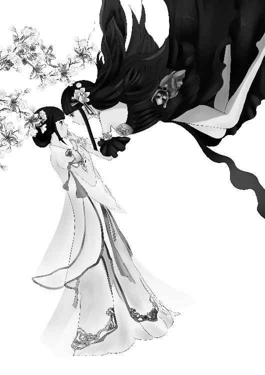 《天下3》手绘:同袍好姐妹,情醉蝶恋花