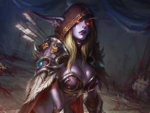 """国外画师ZG作品:爆乳风行者 希尔瓦娜斯大""""球"""