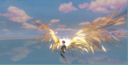 天谕高级翅膀银月、花蔷、炽天游戏实拍展示