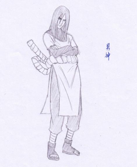 【手绘】火影忍者ol原创手绘—木叶3忍与师傅