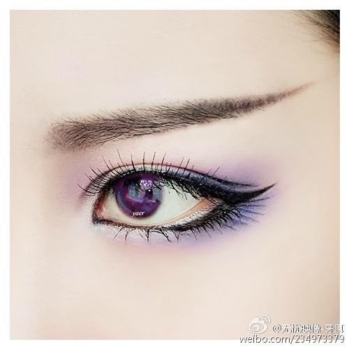 剑网3同人cos 五毒眼妆眼线部分教程
