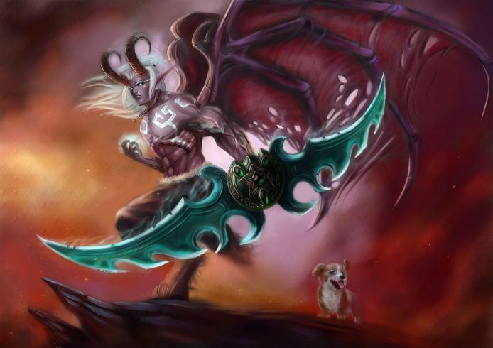 1 原创作品:与柯基并肩作战!单刀恶魔猎手