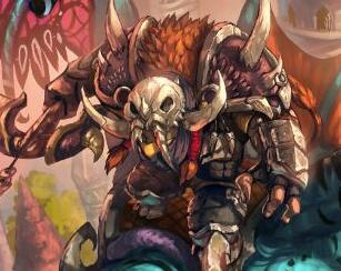 玩家原创画作:牛头猎人与他的魔法灵龙