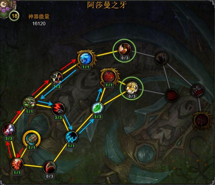 魔兽7.0团再临野德神器加点路线分析