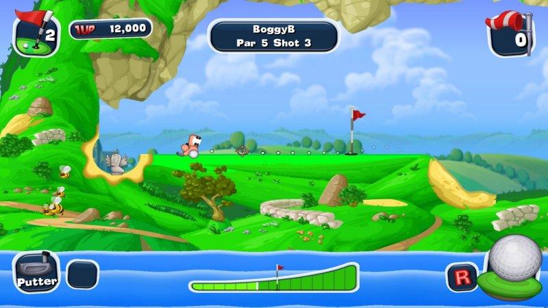 蠕虫疯狂的高尔夫球截图第1张