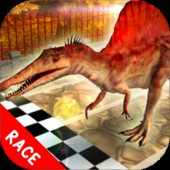 Dino宠物赛车游戏:Spinosaurus Run !!