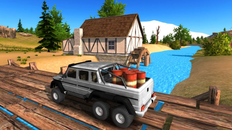 6x6 Offroad Truck Driving Simulator截图第1张