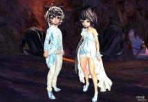 【灵族模型】浅蓝色的婚纱+随便送个情侣捏脸