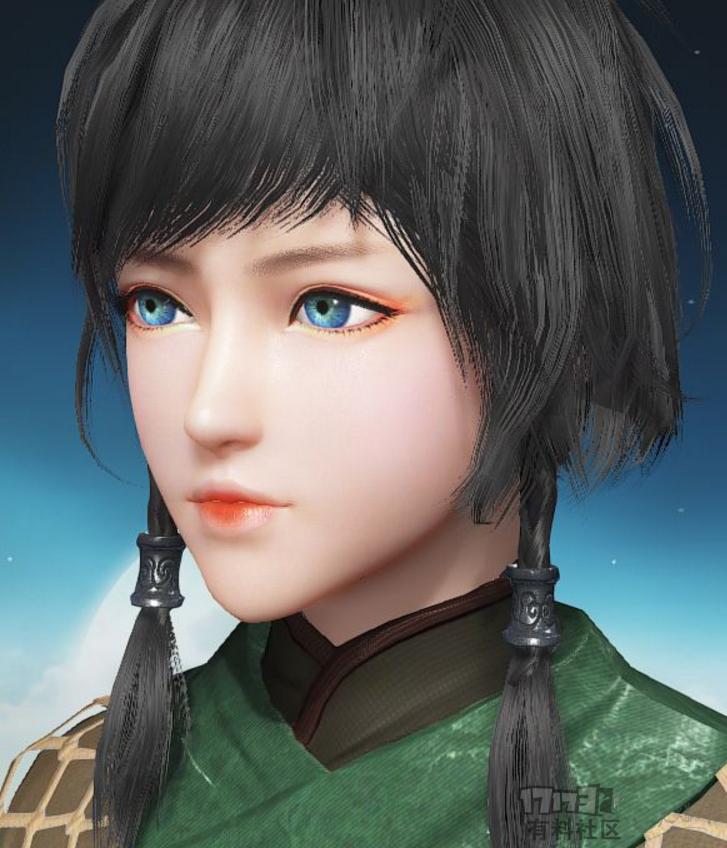 【捏脸数据】可爱的短发蓝眼睛妹子