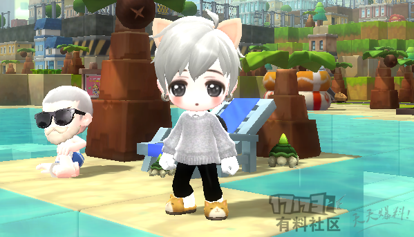 【鹿懵懵】灰色毛衣衬衫
