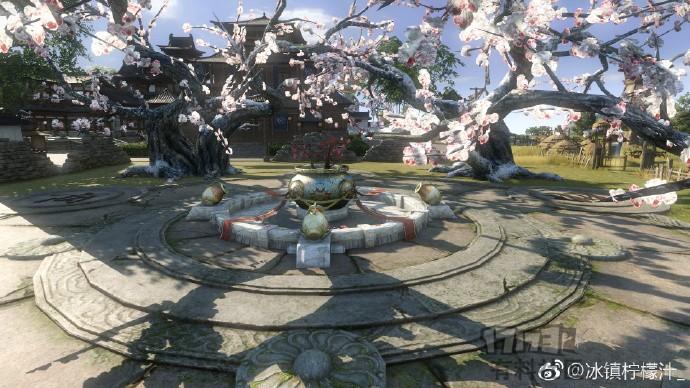 《逆水寒》庄园展示---佛系后花园