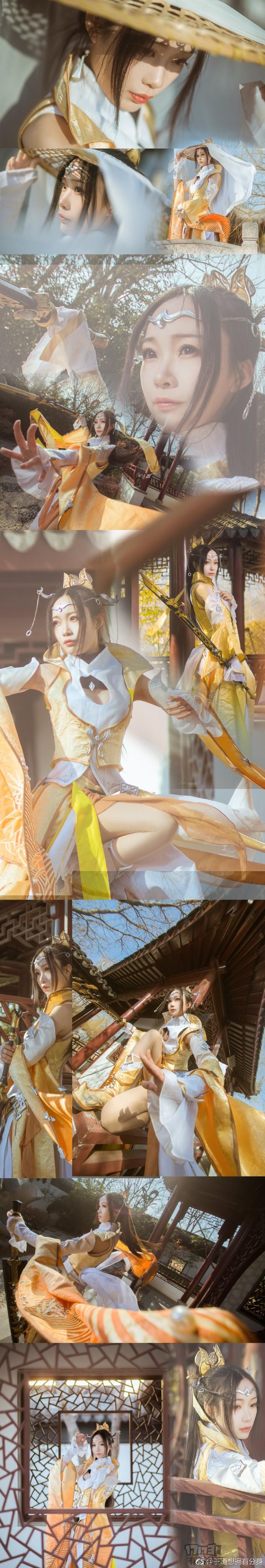 剑网3藏剑优秀COS欣赏推荐 金光闪动剑舞霓裳