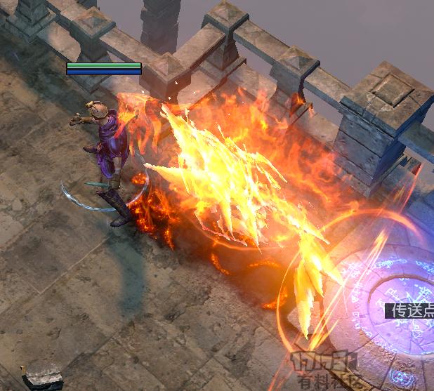 烈焰冲刺巨龙 闪现打击亡魂-忍术