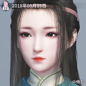 捏脸分享+女侠+作者:侍玄
