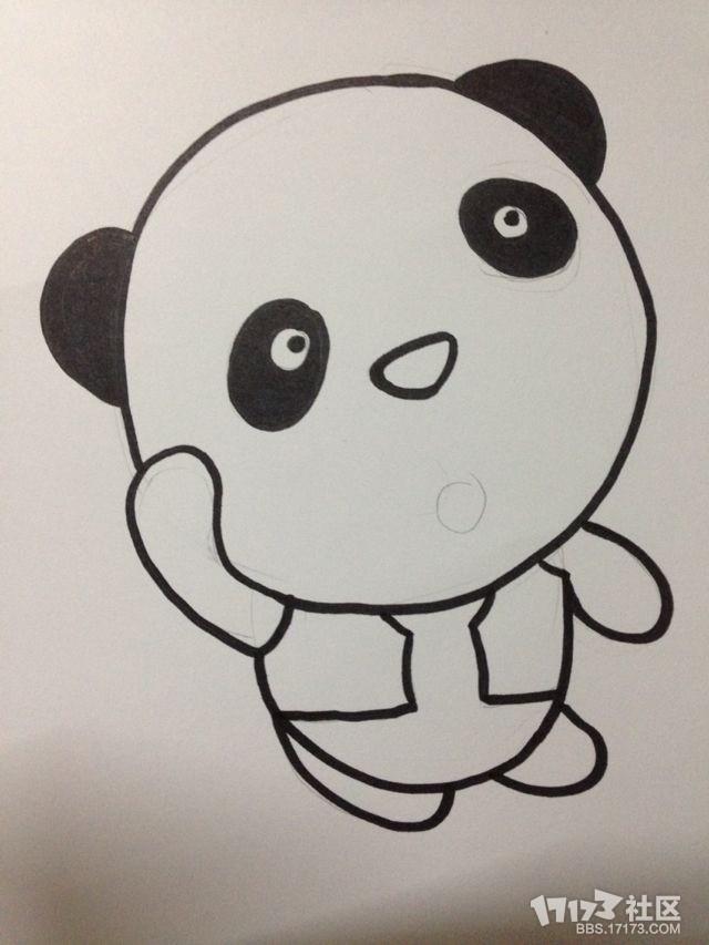 【我心目中的个性熊猫】一个人的星空end纯手绘娱乐by不配