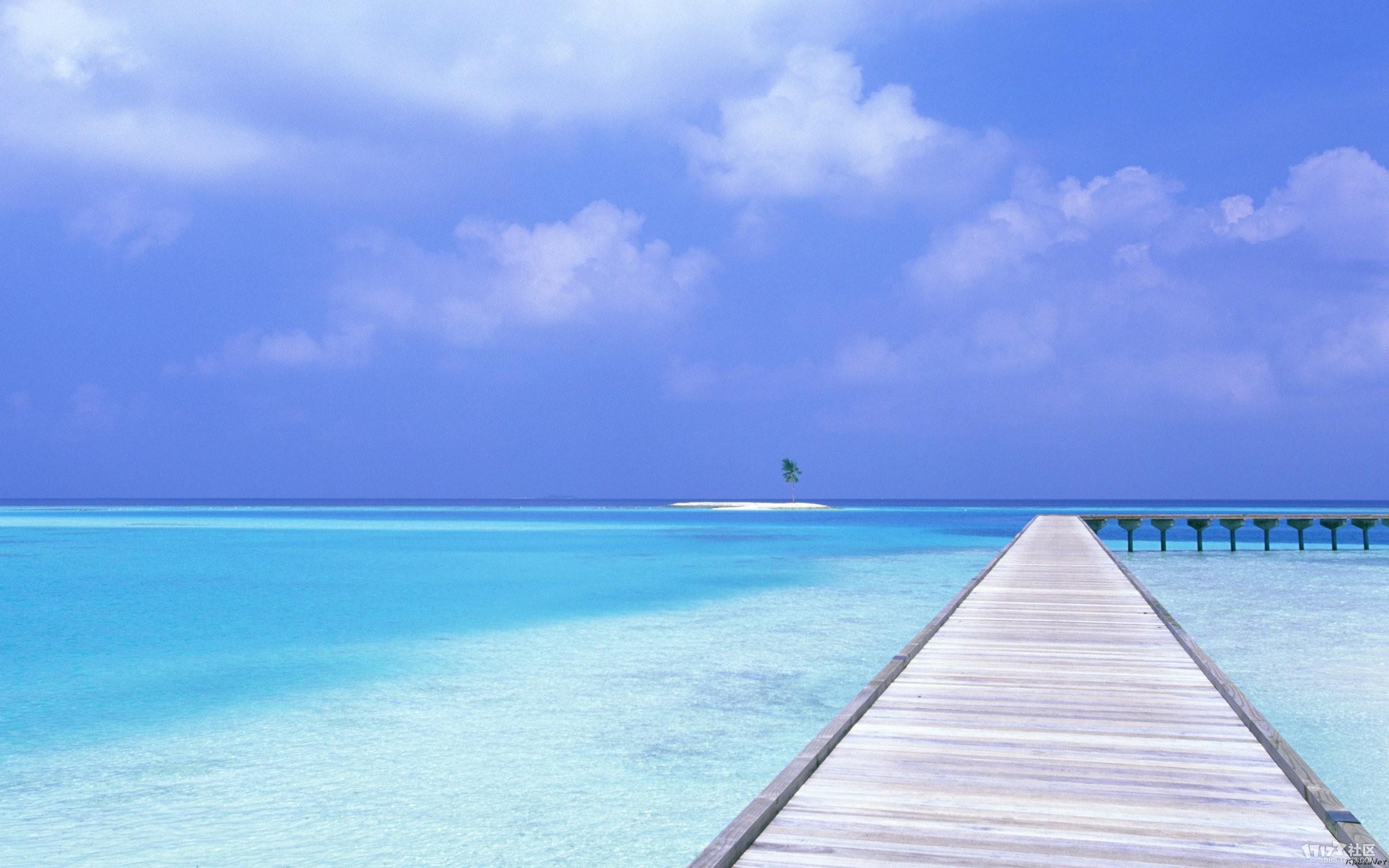 马尔代夫特色沙滩风景
