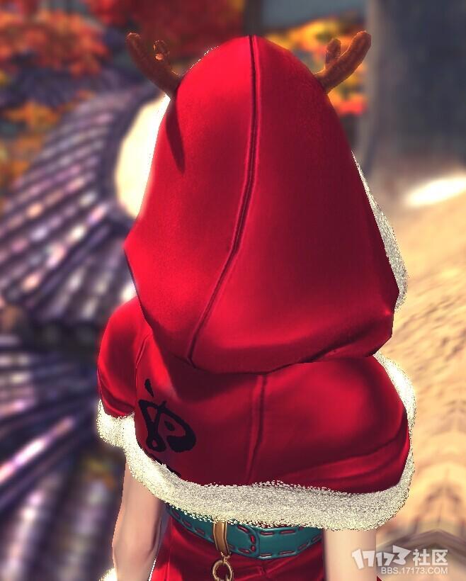 圣诞帽背面