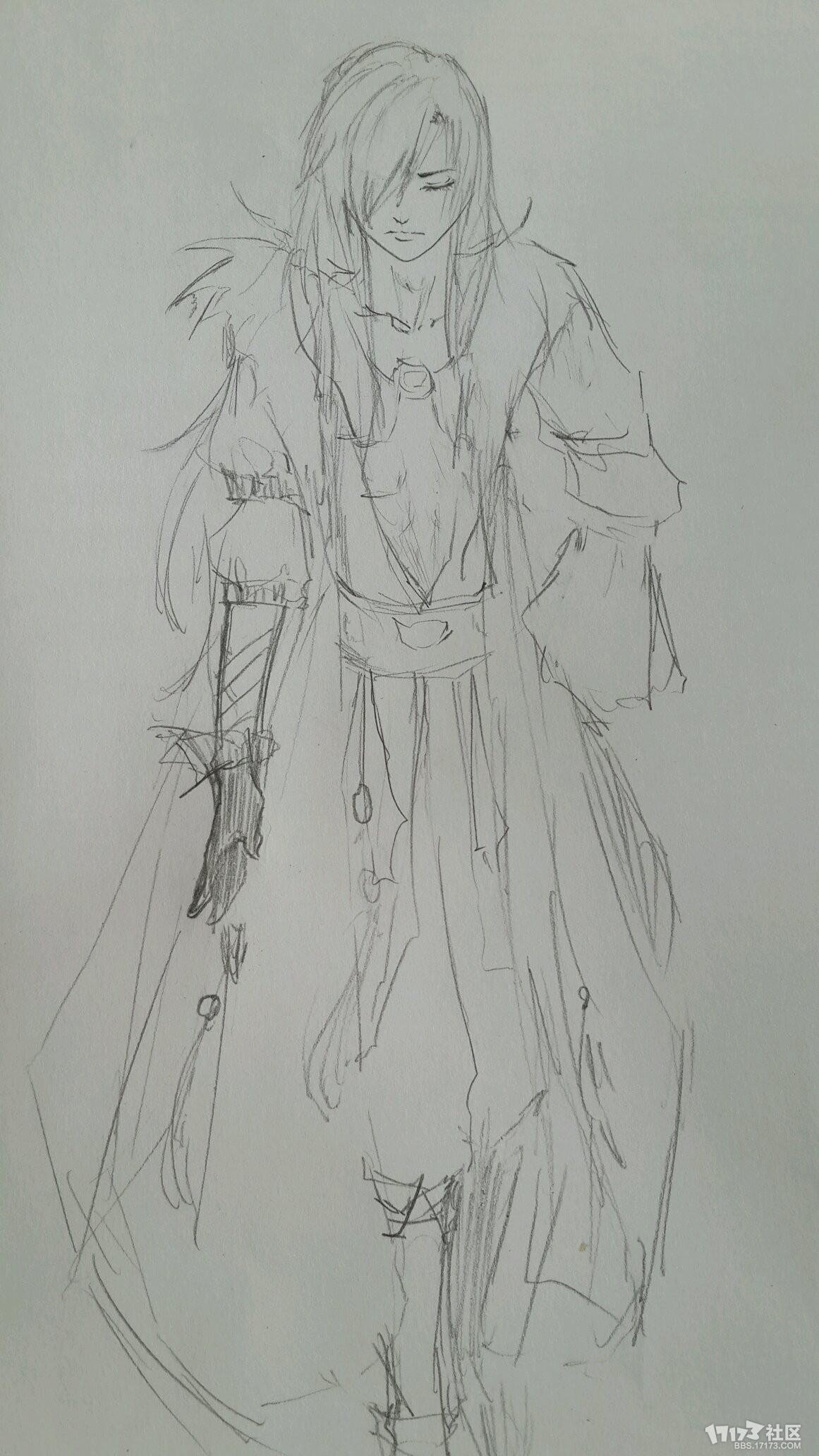 【原创】铅笔手绘图——帅气的高等精灵-tera综合
