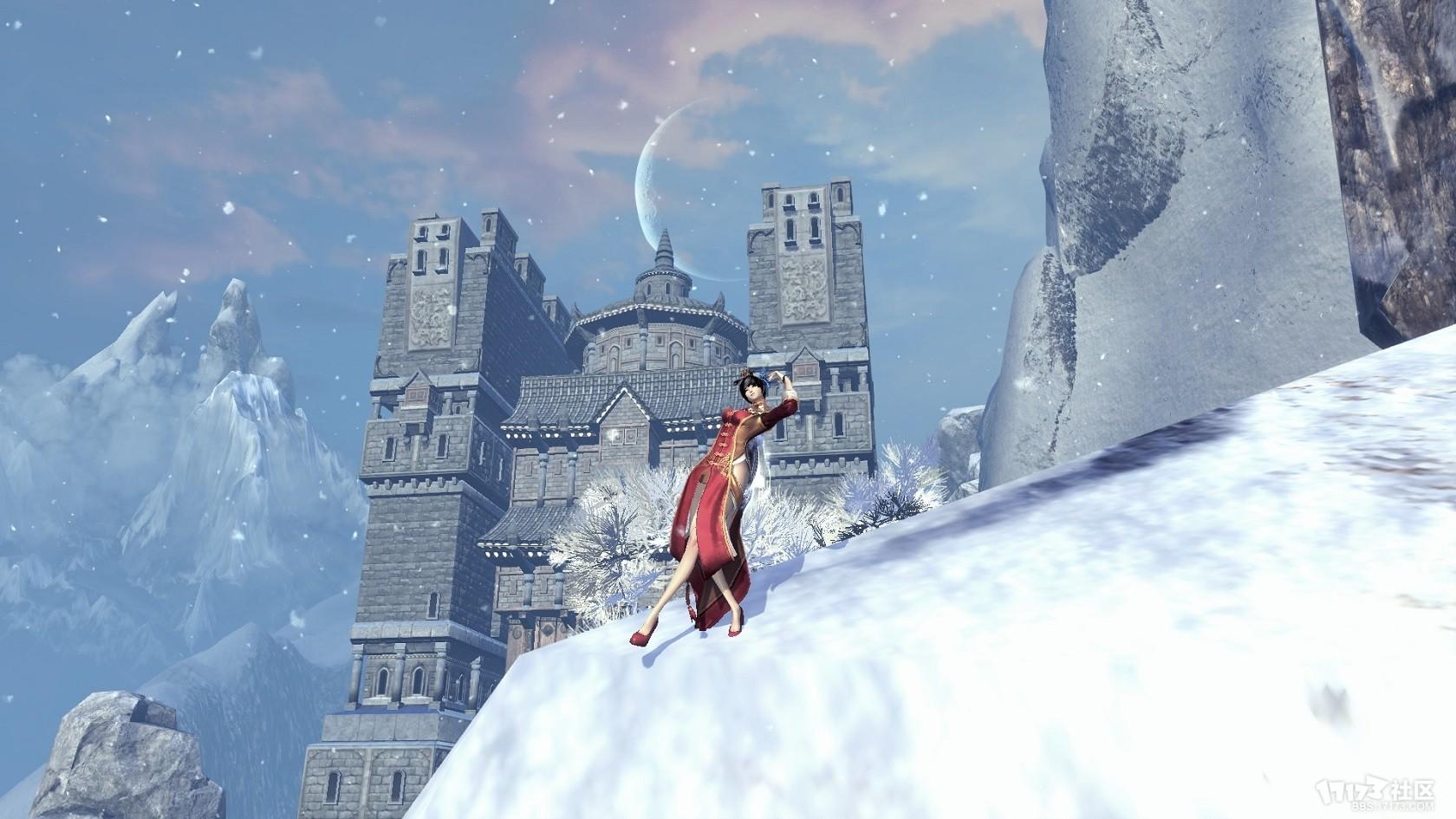 有雪的好看风景图片