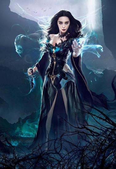 黑暗女王性感降临 范冰冰全新暗黑造型代言手游