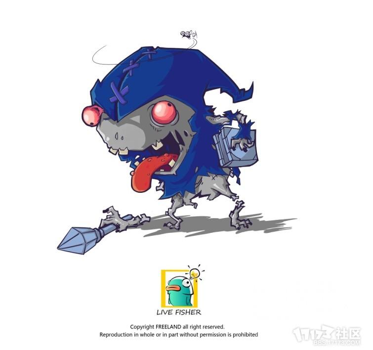 玩家手绘英雄联盟q版丧尸系列:你能认出几个?