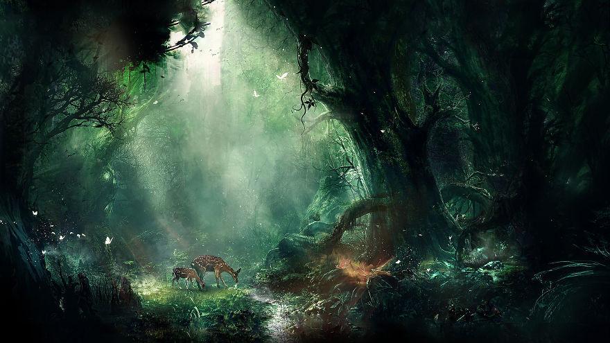 迷人的瑰丽风景画 教你构筑奇幻多姿的幻想世界