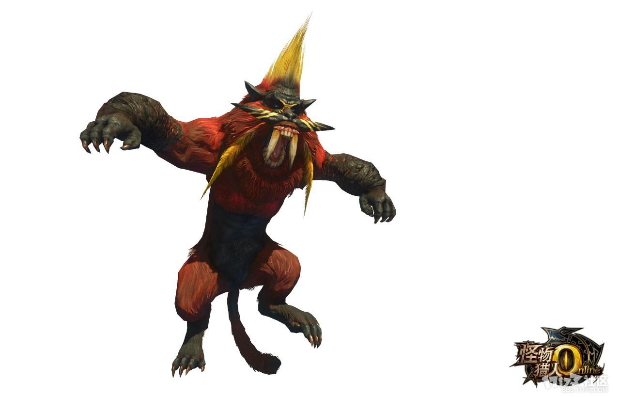 怪物区#�yab̹.+y��x��_怪物猎人ol炎狮子—喧火灼天 热血来袭-怪物猎人ol区