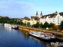 莱茵河之恋 开满紫色薰衣草的科布伦茨