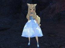 灵女洪门改蓝色的裙子