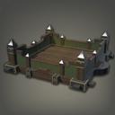 木制绿洲小屋房顶