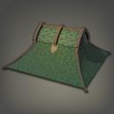 混合制林间小屋房顶