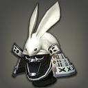 铁质银箔玉兔武士盔