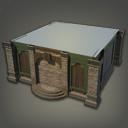 木制绿洲小屋外墙