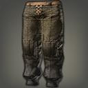 棉绒条纹工作裤