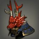朱漆天龙武士盔