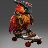 滑板火烈鸟